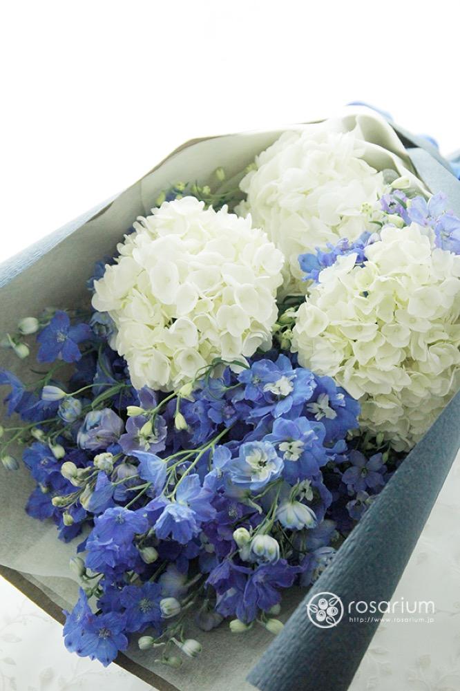 優しいブルーの花束|