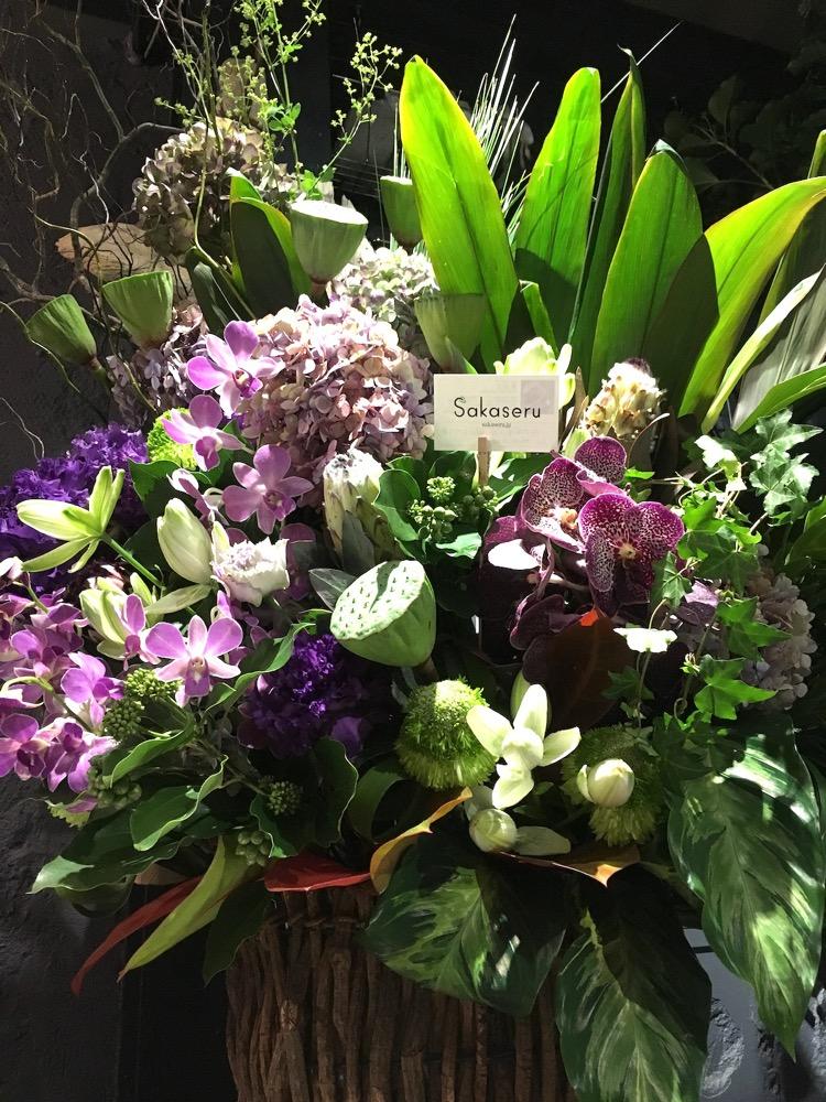 インパクトのあるご移転の祝い花|