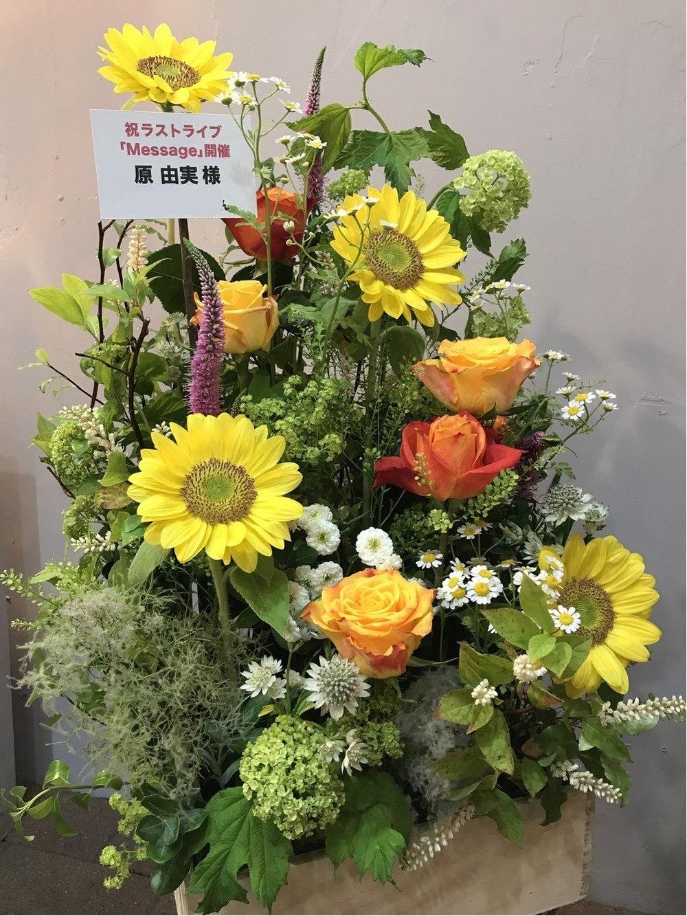 下北沢GARDEN ライブ[Message]開催祝いのお花