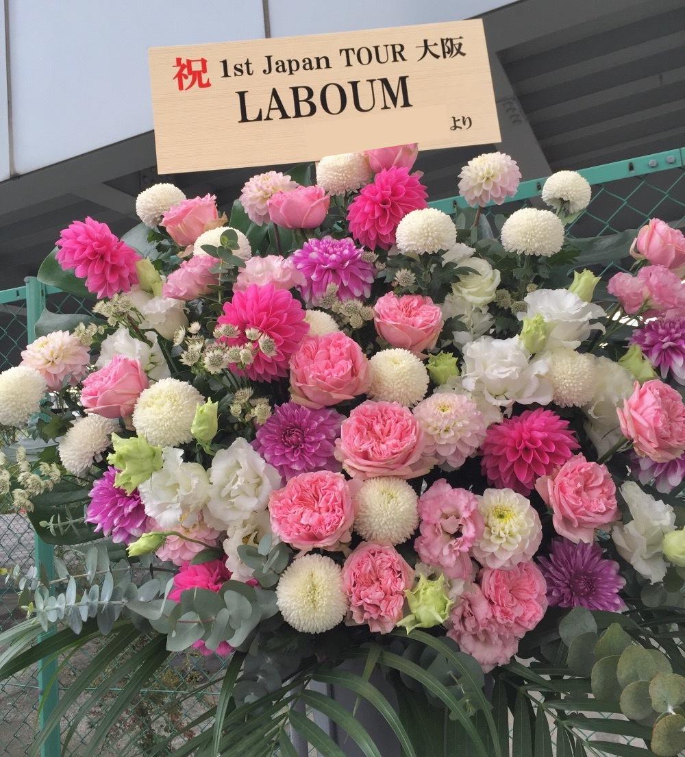 梅田TRAD ライブ ご出演祝いのスタンド花|